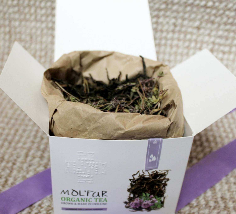 Чай кипрійний з цвітом чебрецю Molfar, відкрита упаковка