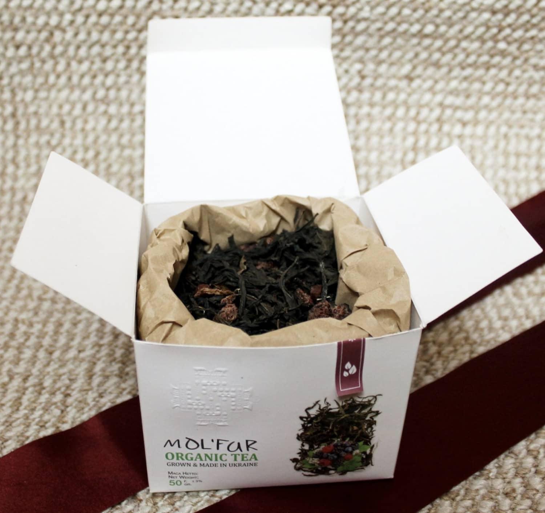 Чай кипрійний з ягодами Molfar, відкрита упаковка