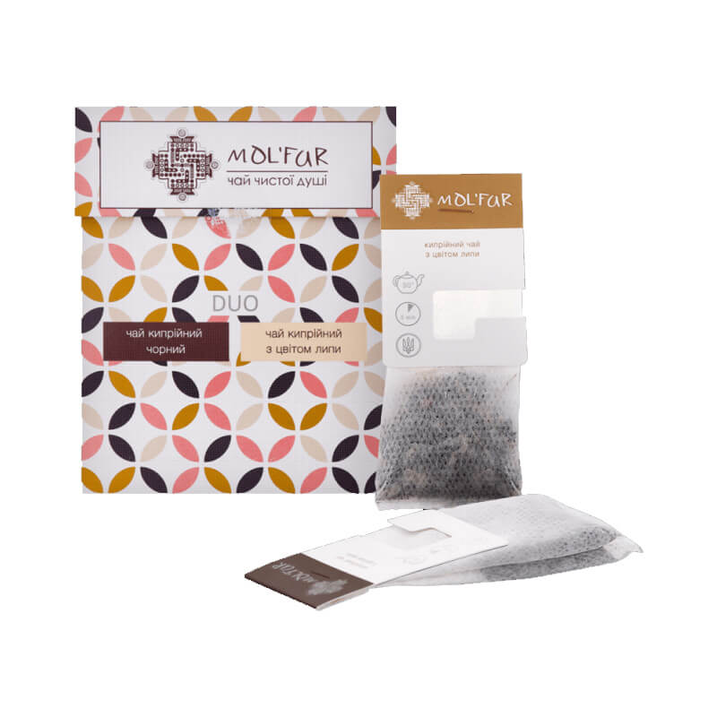 Чай кипрійний пакетований чорний (10 пакетиків) з липою (10 пакетиків)